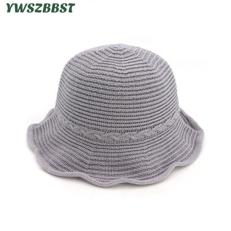 New Women Summer Sun Hats Vintage Sweet Female Bucket Hat Women Fisherman  Hat Sunscreen Bucket Cap Seaside Beach Cap Fedora Hats For Women Hat Shop  From ... fff39cd4bc9