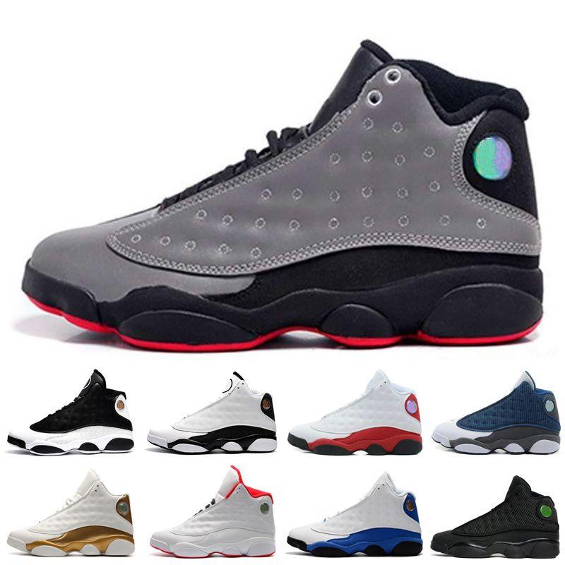 a937ea6bc1bf2b 13 13s Mens Basketball Shoes Hyper Royal Love Respect Black White ...