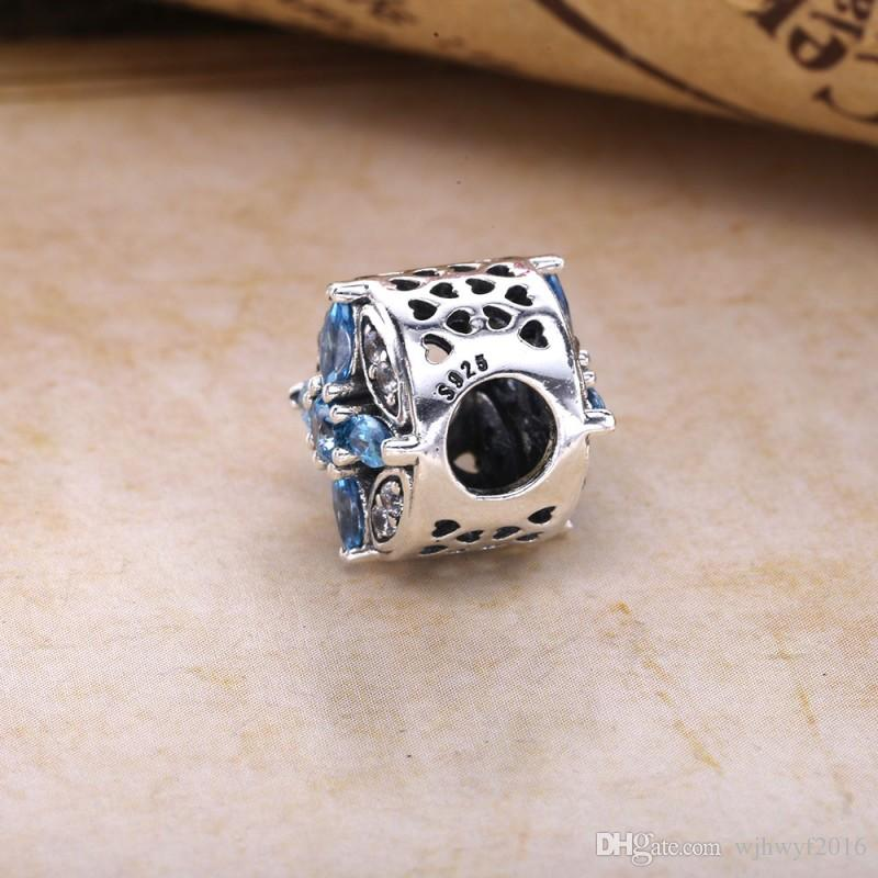 Patterns of Frost Charms Bead 925 Sterling-Silver-Jewelry MIX Crystal Natural Stone Xmas Beads DIY Charm Bracelets Making Accessories
