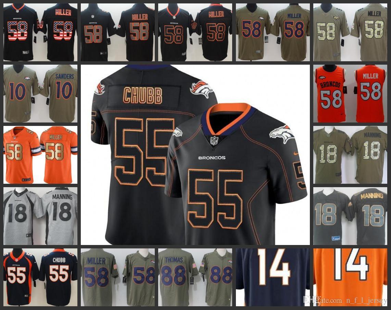 d437e03c7 Denver Broncos Embroidery Man Jersey  55 Bradley Chubb 14 Courtland ...