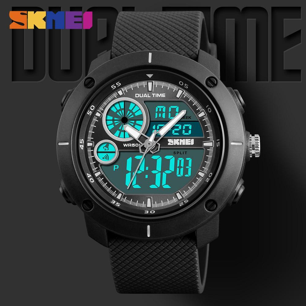 c2ec29cf1676 Compre SKMEI Hombres Relojes Deportivos Militares EL Light Reloj Doble Cronómetro  Reloj Alarma Relojes Digitales Relogio Masculino Saat 1361 A  17.25 Del ...