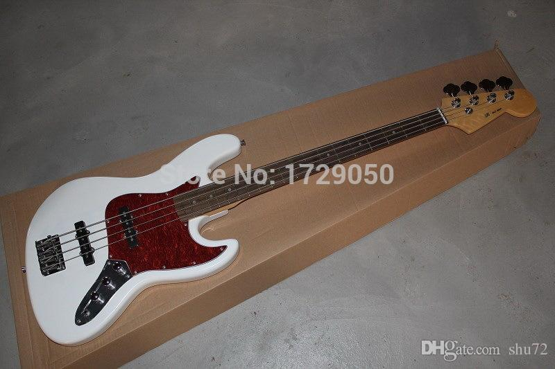 factory custom New Arrival top quality F 4 strings bass guitar white guitar jazz Electric bass Guitar 11 12