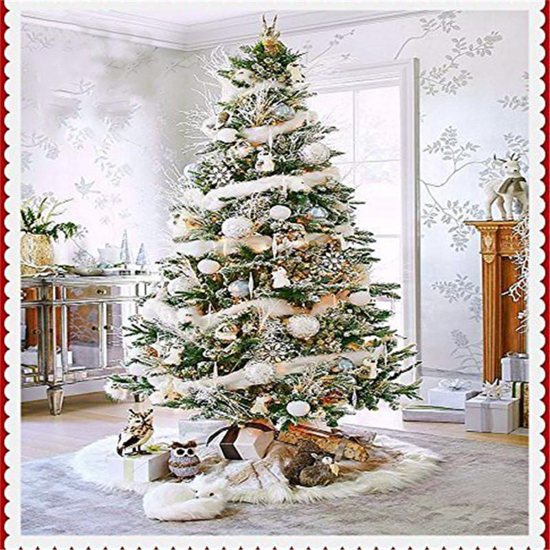 High Quality 78cm Diameter Pure White Christmas Tree Skirt Xmas Tree
