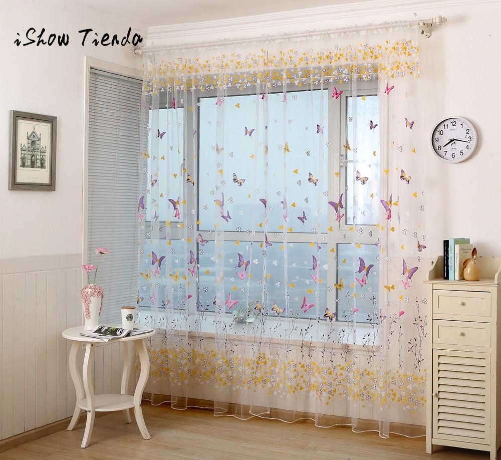 Butterfly Window Screens Door Balcony Curtain Panel Sheer Cover For ...