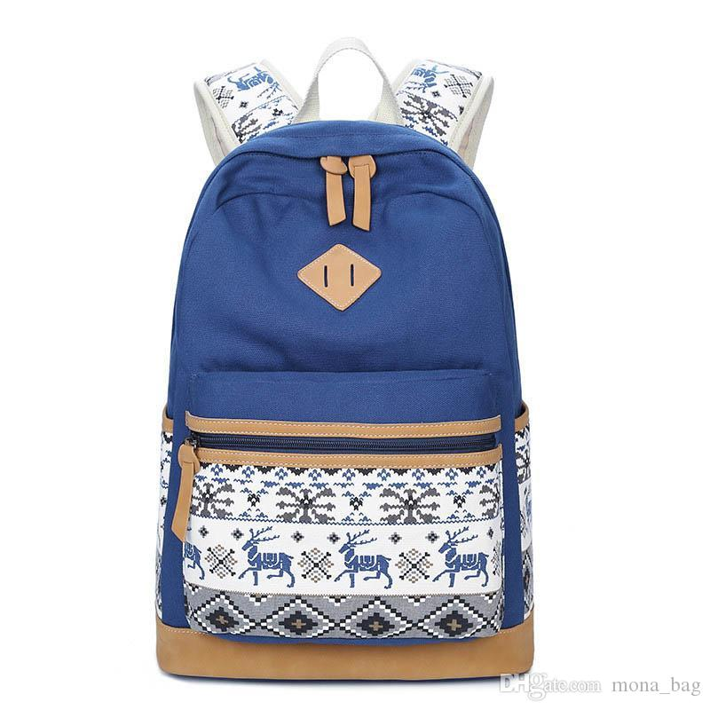 0f0f2959994f Canvas Backpack Animal Prints Women Bagpack Teenagers Backpacks For Teenage  Teen Girls Youth Feminine Backpack Mochila Feminina Canvas Backpack  Backpacks ...