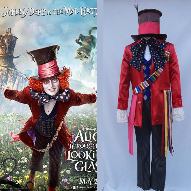 New Animation Alice In Wonderland 2 Mad Hatter Cosplay Costume Adult  Costumes For Halloween/Carnival Party Group Costumes For 6 Costume Theme  From Peay, ...