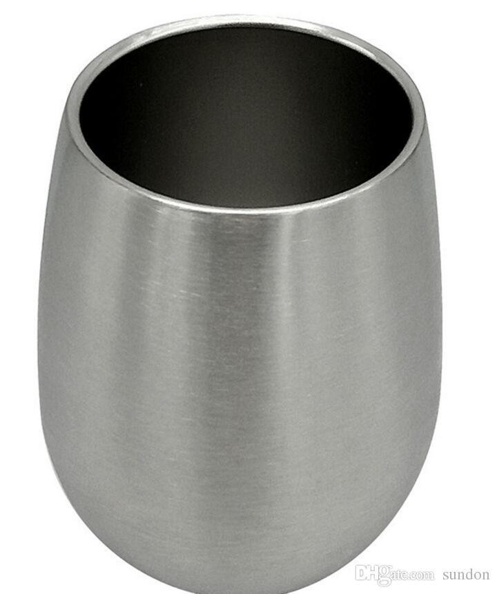 Vaso de copas de vino y copas de acero inoxidable sin copas de 17oz de una sola capa Vaso de copas Portavasos Vovotrade