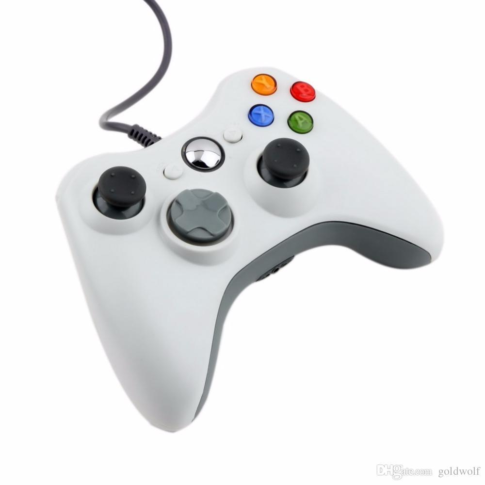 USB wired jogo xbox 360 controlador joypad gamepad joystick para xbox 360 xbox 360 acessório fino pc computador portátil de varejo embalagem