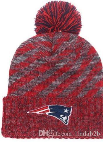 2019 American National Patriots Beanie Sports Pom Stripes Men Women ... 64c4db9da