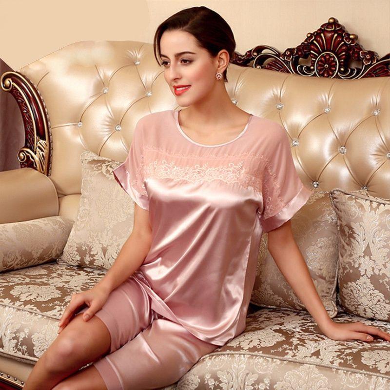 20d995c280 Pajamas Ladies Summer Clothing Dream Simulation Silk Pajamas Fall Nightdress  Suit Pajamas Sleepwear Nightwear Online with  16.94 Piece on Xiuyi02 s  Store ...