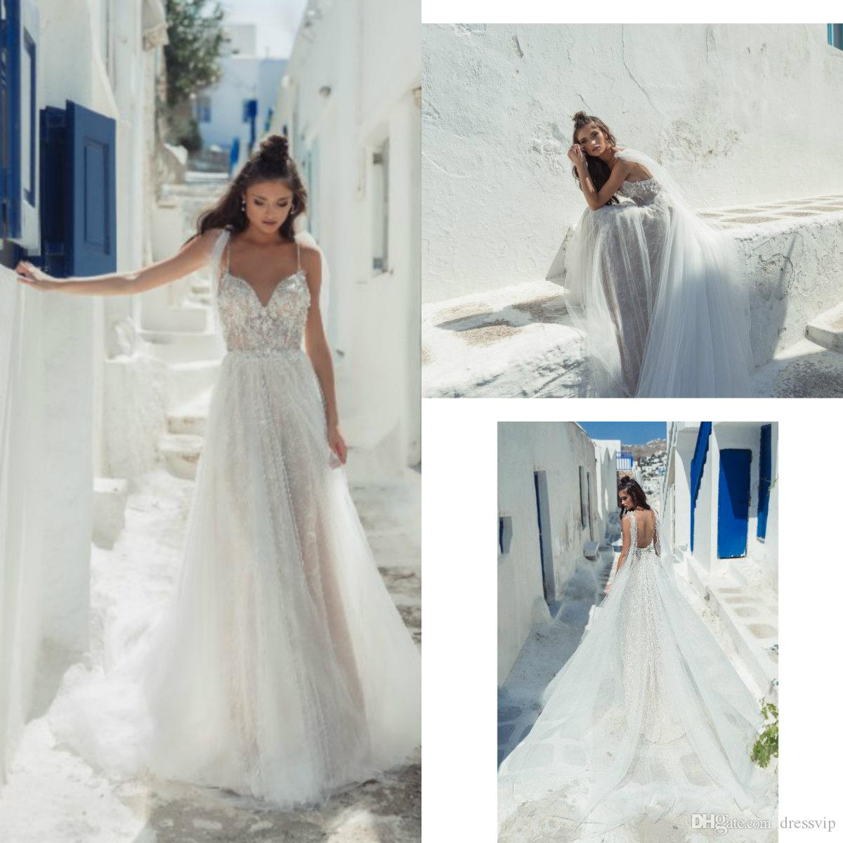a1701b6bda Discount 2019 Julie Vino Beach Wedding Dresses Spaghetti A Line Sleeveless Boho  Bohemian Lace Wedding Dress Custom Made Plus Size Bridal Gowns Wedding Dress  ...