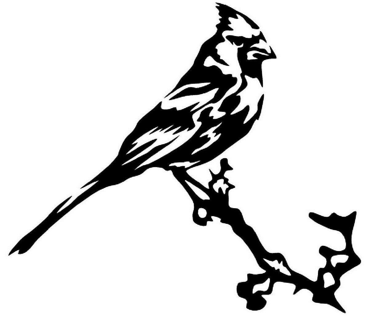 2019 car styling for cardinal bird on a branch vinyl decal sticker car window wall bumper cool animal from redchinatown 1 01 dhgate com