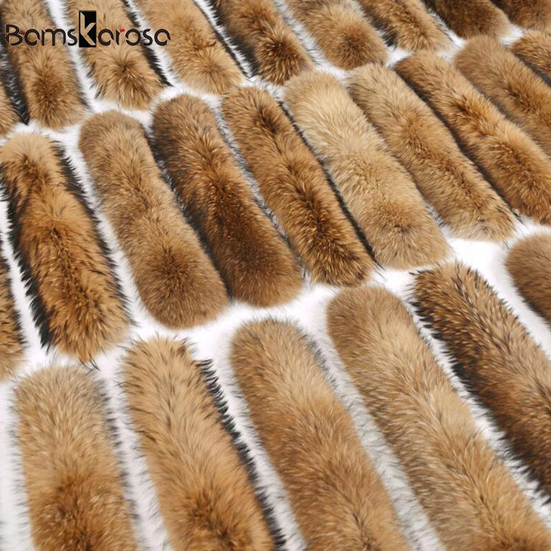 100% Natural Jacket Fur Collar Real Fur Scarf Women Winter Coat Female Warm Shawl Thick Raccoon Collar Scarves Neck Warmer