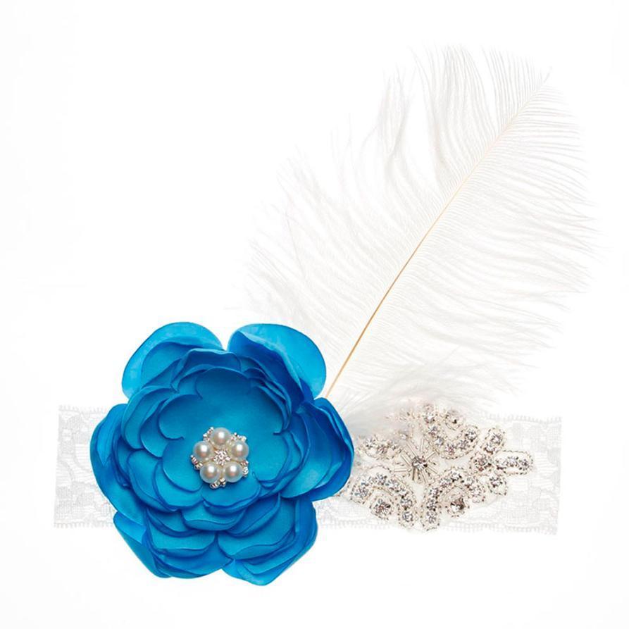 Girls Head Accessories Hair Band Party Flower Diamond Feather Headwear Hair  Accessories Flower Crown Headband Scrunchie Cute Baby Girl Hair Accessories  Hair ... 0fd2b02cf60