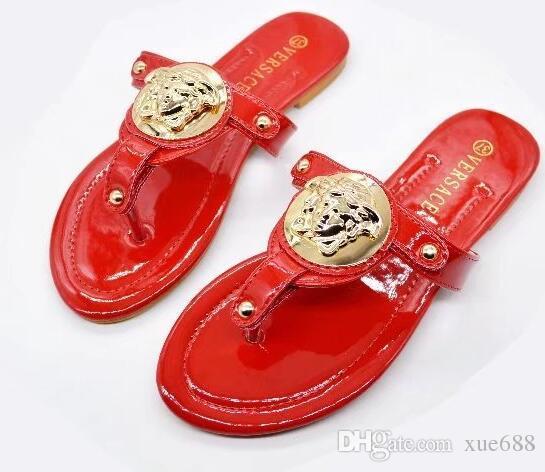 7789b41e9 Sandals Vo Brand Slippers New Women Flip Flops Sandals Big Size 35 ...