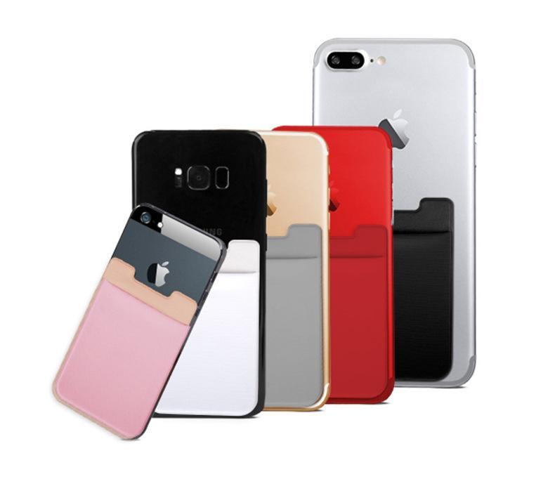 logo OEM elastica Lycra Cellulare Portafogli identificazione di accreditamento del supporto di carta intasca autoadesivo adesivo iPhone 11 XS pro max 8 6 6s 7 Plus Samsung
