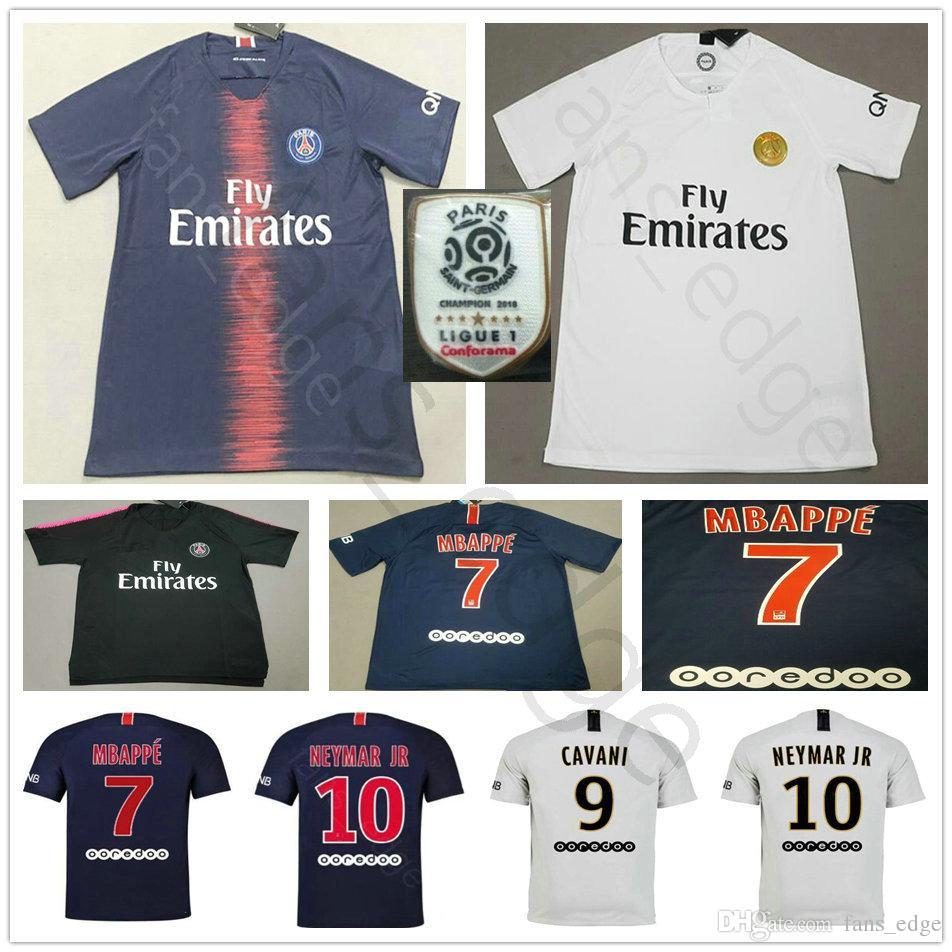 Top Thailand Maillots PSG Soccer Jersey 2019 Paris 7 MBAPPE Saint ... 0c467f92f