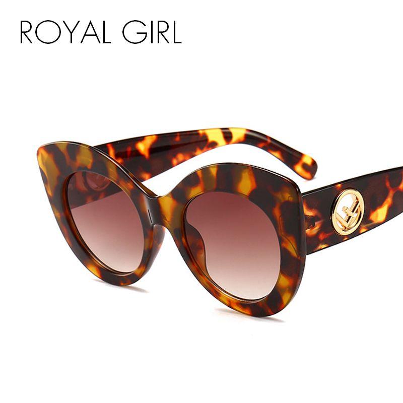 2f040147fd3 Royal Girl Cat Eye Sunglasses Women Men Vintage Brand Designer Eyeglasses  Female 2018 Black Leopard Frame Sun Glasses Ss967 Wiley X Sunglasses Mirror  ...