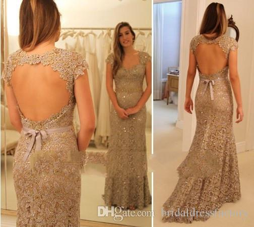 michael korns 2018 New Arrival sexy backless Lace Mermaid Evening Dress Formal evening party gowns china long indian saree