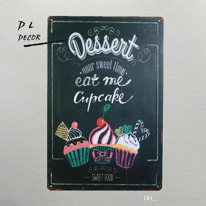 Dl Your Sweet Time Eat Me Cupcake Metal Painting Retro Plaque Pub ...