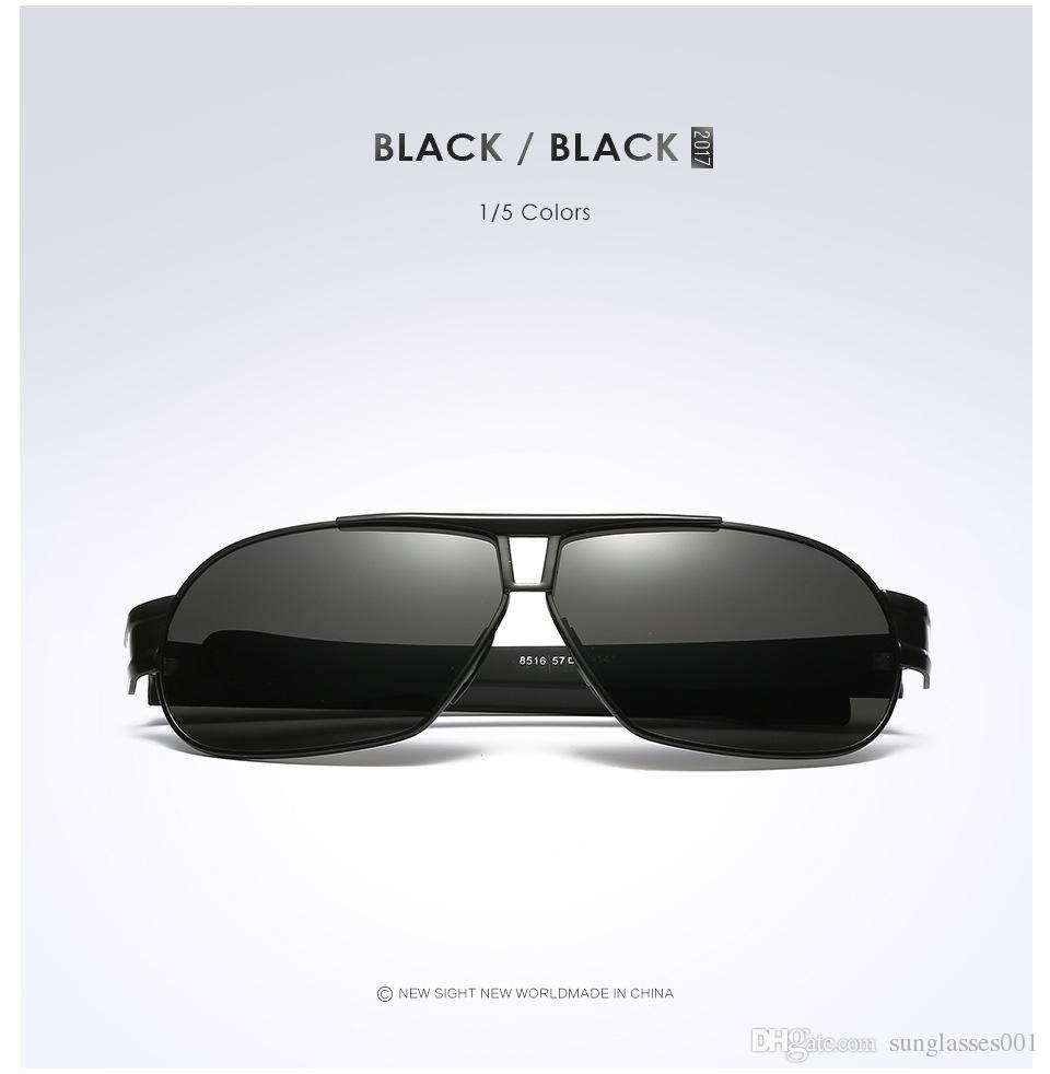 Whoelsales Fashion Brand Designer Men's gaudioscope Sungllass;Lens TAC Polarized UV 400 Protection Frame AI-MG Metal Driving Sunglasses