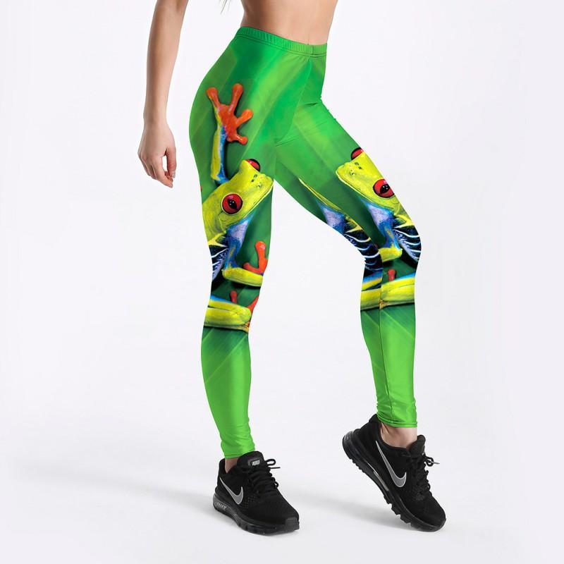 Großhandel Neue Heiße 3D Frosch Sexy Frauen Leggings Hosen Yoga Fitness  Elastische Strumpfhosen Mädchen Atmungs Grün Beliebte Dame Gym Hosen S 4XL  Von ... 3b0b47a110