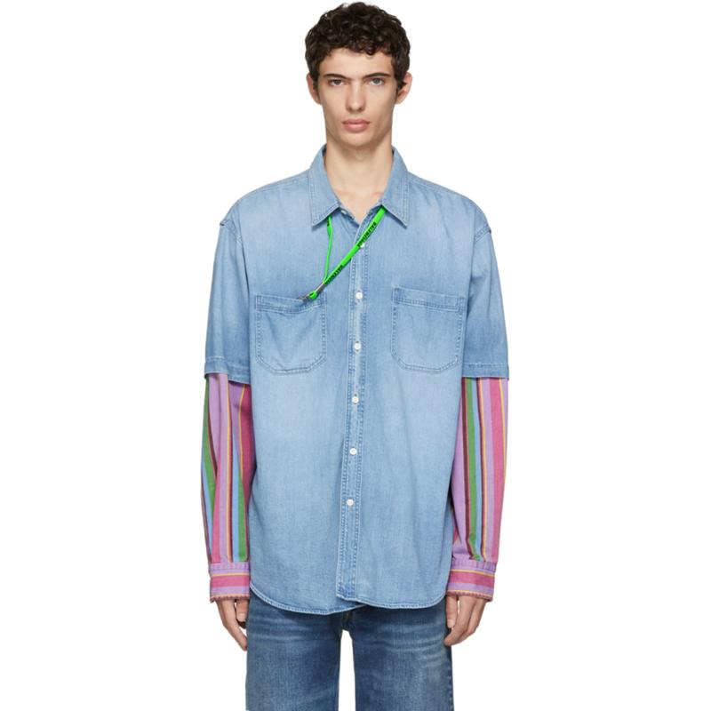117cdd8fc2 Europe Americ Stitching Denim Jacket Shirts Early Spring Autumn Casual  Street Fashion Coat Men Women Jacket Outwear Couple T Shirt HFYMJK068  Bomber Jacket ...