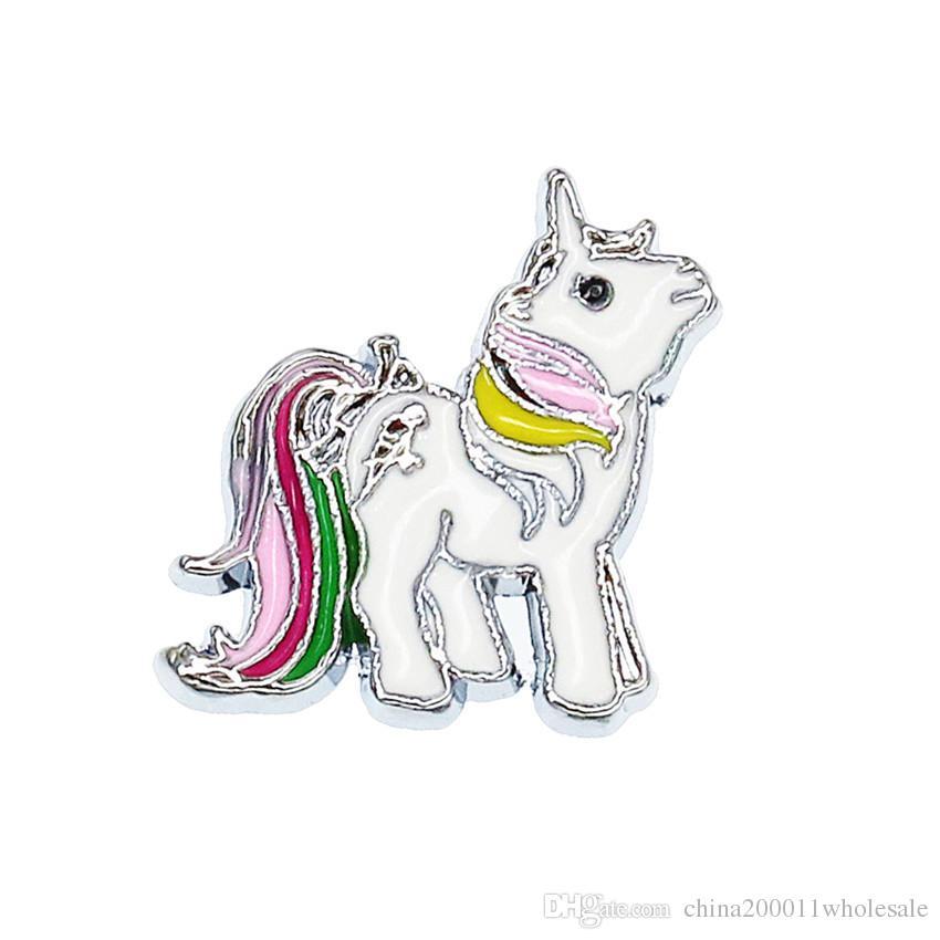 Mezcla Estilos 8mm Unicorn Horse Taza de café Sharms de diapositivas Encantos de la pulsera Fit 8mm Perro Gato Mascota Collar Pulsera Pulsera Hacer joyería