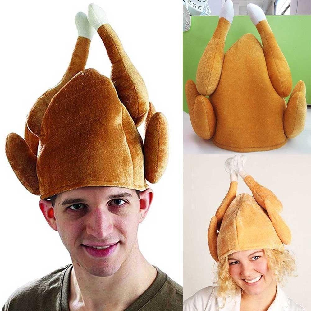 7cbcef1d0ebdc 2019 Thanksgiving Day Turkey Caps Cartoon Funny Plush Roasted Chicken Cap  Teenager Halloween Cosplay Party Festival Costume Velvet Hat AAA980 From  Sport no1 ...