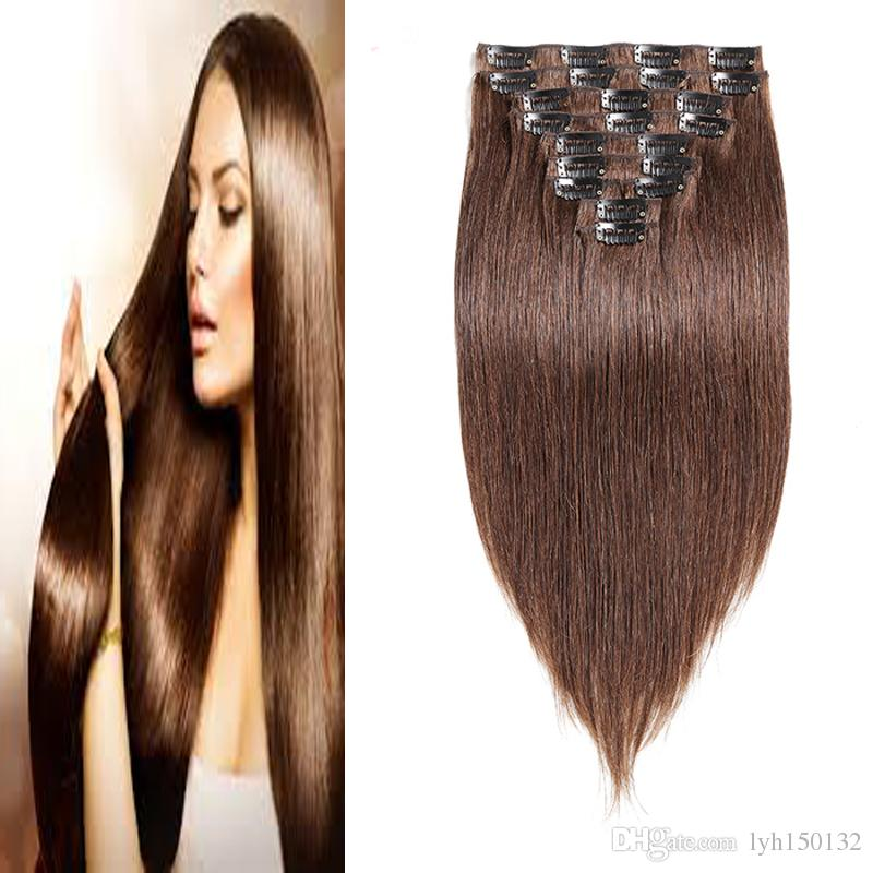 Clip In Human Hair Extensions 100g Machine Made Remy Clip In