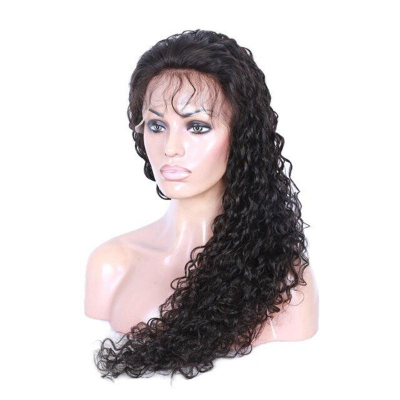 Perruques de dentelle brésilienne de cheveux humains pour les femmes noires Kinky Curly Lace Front Perruques Taille de bonnet moyen avec peignes de couleur naturelle