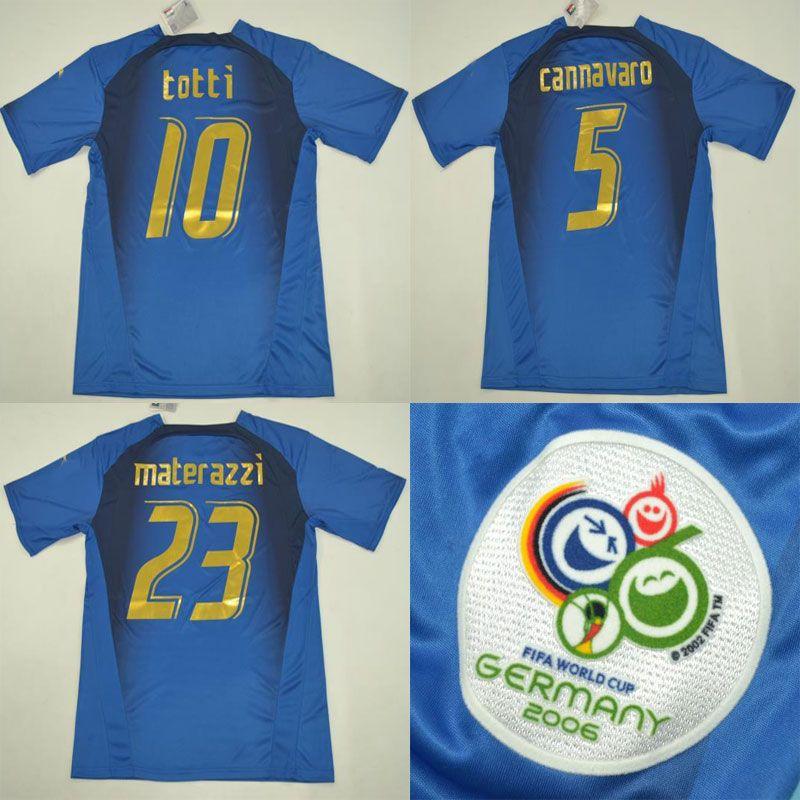 f7723e5901a 2019 2006 Italy Retro Rugby Jersey Cannavaro Grosso Totti Del Piero Nesta  Inzaghi Pirlo Materazzi Gattuso 06 Italia Vintage Classic Shirts XXL From  Wuyue194 ...