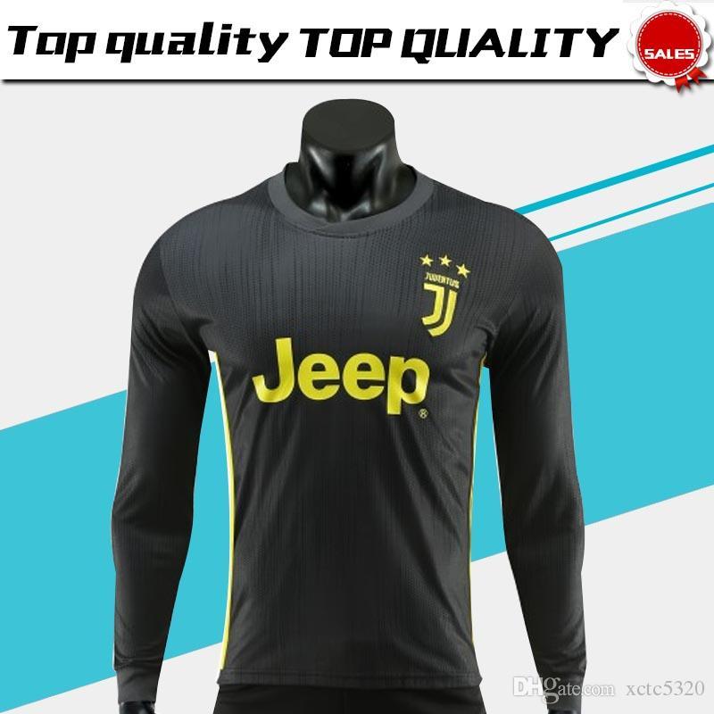 Compre Camisa De Futebol De Manga Longa Juventus Terceiro 18 19   7 RONALDO  Camisa De Futebol 2019   10 DYBALA   17 MANDZUKIC 3 Completa Uniforme De  Futebol ... 87c163efedb3e