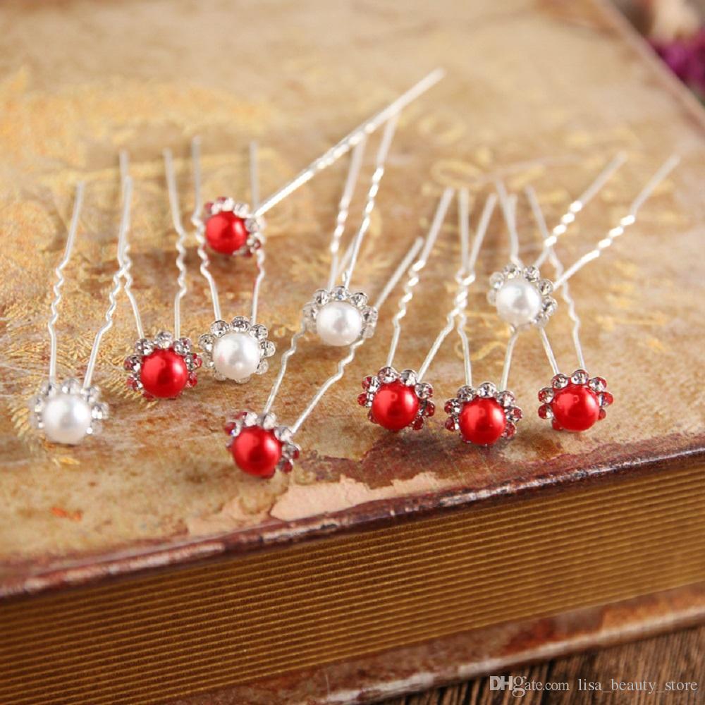 / mariée épingles à cheveux perles strass mariage mariée fleur épingles à cheveux clip poignées femmes dames filles accessoires