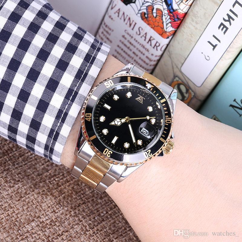 40mm masculino mens orologi sottomarino di lusso wist moda quadrante nero con calendario staffa pieghevole chiusura master maschio giftluxury mens watche
