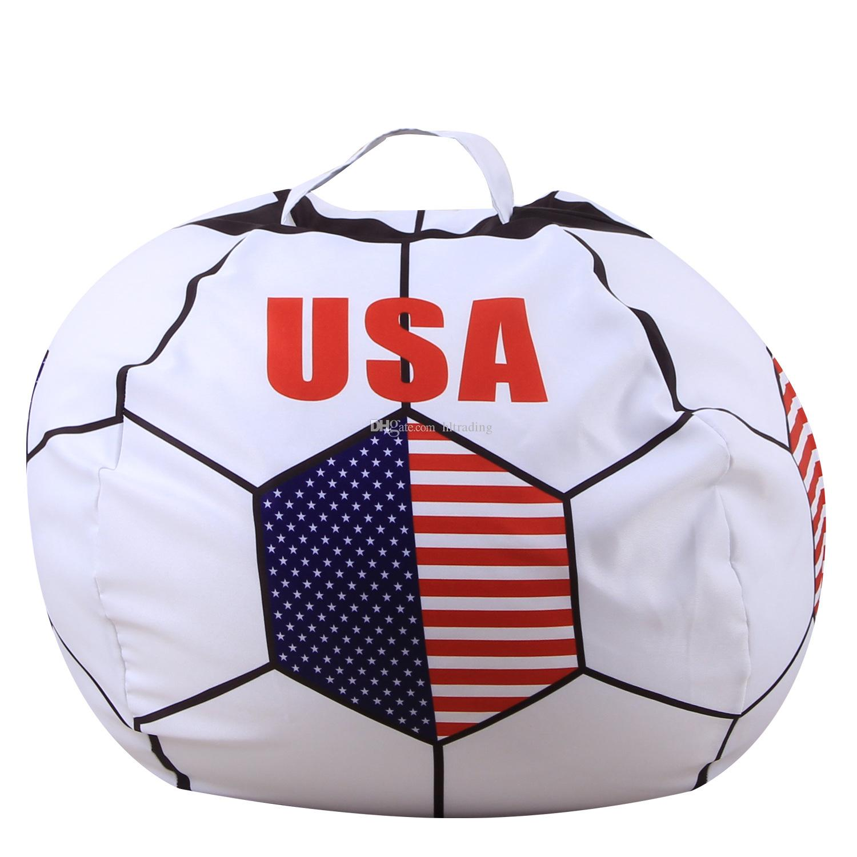 26 polegada Saco de Feijão De Armazenamento De Futebol Russa Bebê Stuffed Animal País Bandeira impressão Bolsa Bag 34 estilos C4125