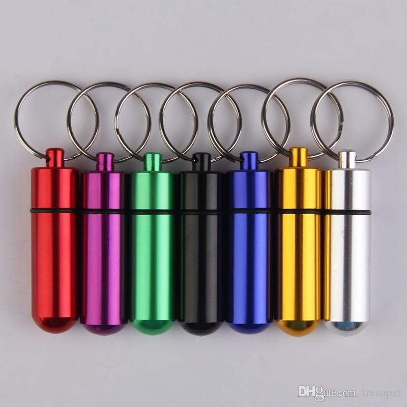 Multifunction Tool Aluminum Alloy Waterproof Small Gallipot Cartridge Keychain Outdoor First Aid Survival Practical Kits 2017