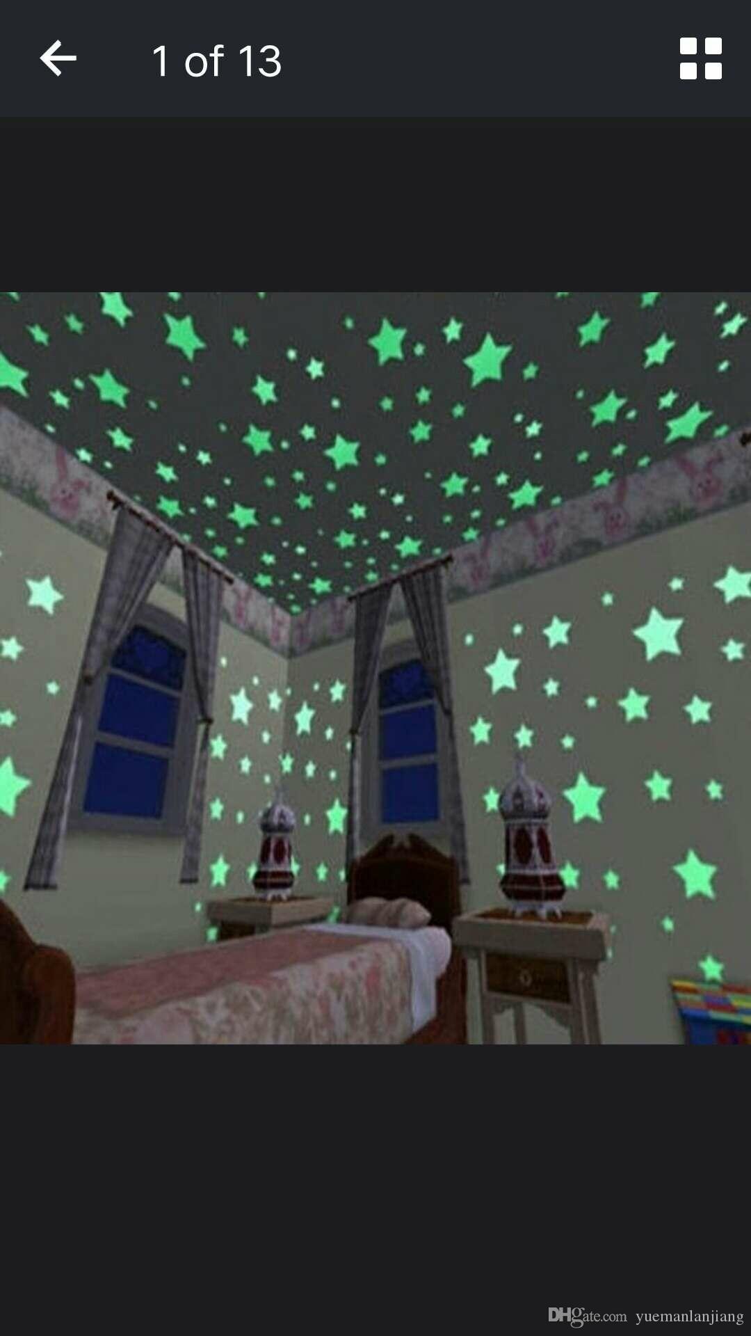 Großhandel 100 Stücke Wand Stickes Glow In The Dark Baby Kinder Schlafzimmer  Wohnkultur Farbe Sterne Leuchtende Fluoreszierende Wandaufkleber Aufkleber  Von ...