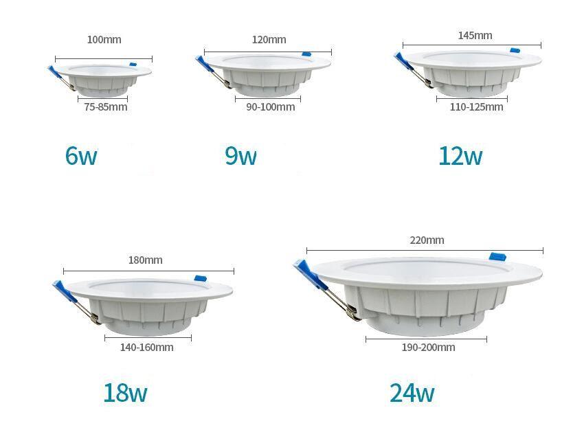 2018 nuevo buen 220-240 v Led ultra delgado downlight luz de techo luces de techo incrustado a prueba de agua anti-niebla anti-reflejo downlight