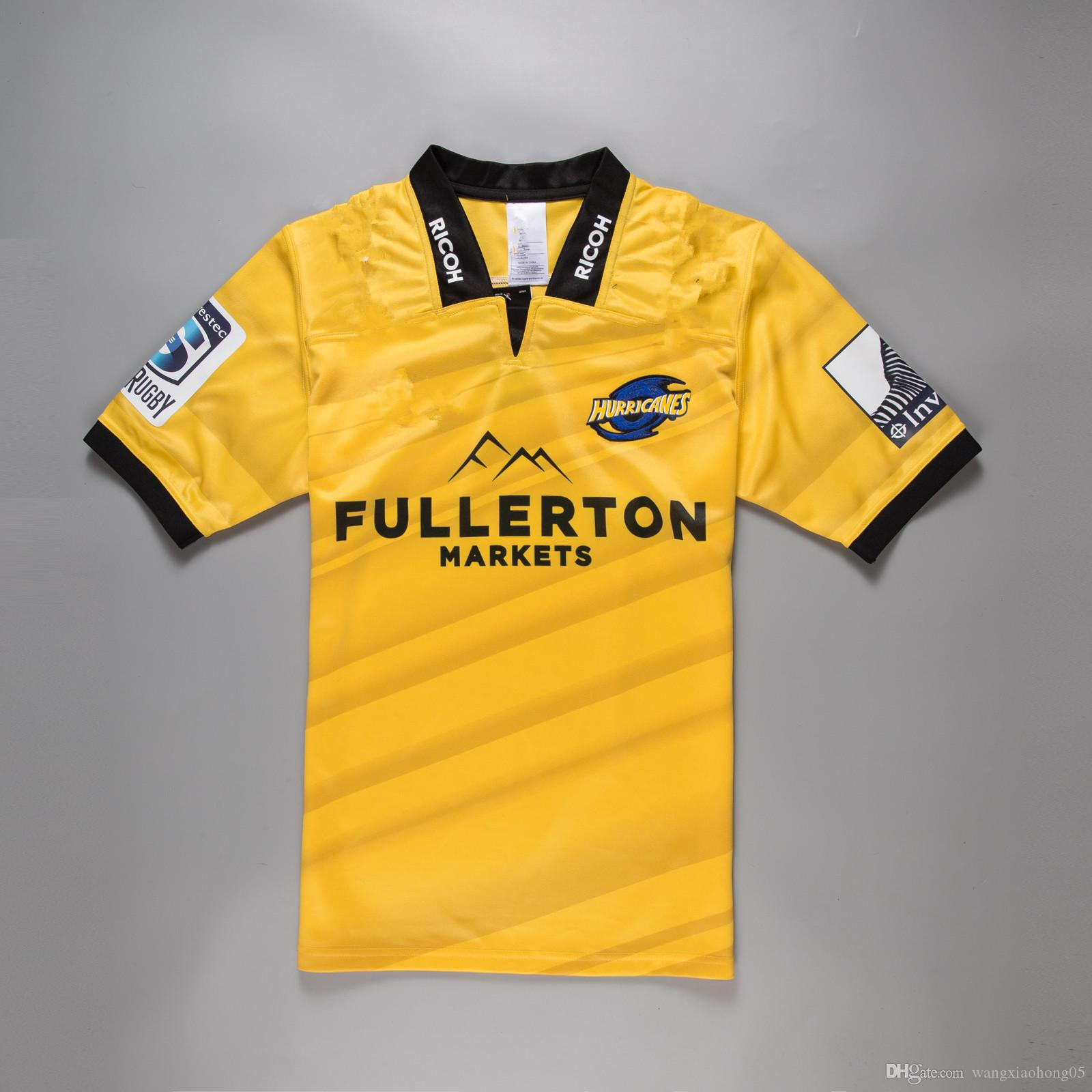 bf6b7c7a438 2019 2018 Hurricanes Super Rugby Home Jersey New Zealand Super Rugby  Hurricanes 2017 Home Rugby Jerseys Euro Extra Large Size S 3XL 5XL From  Wangxiaohong05, ...