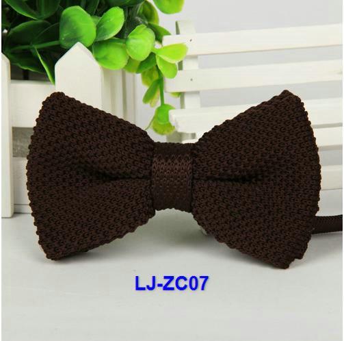 accesorios de los hombres de proa tejer sólido lazo de tejido mariposa borboleta knotbow vestimenta casual corbata de cuello /