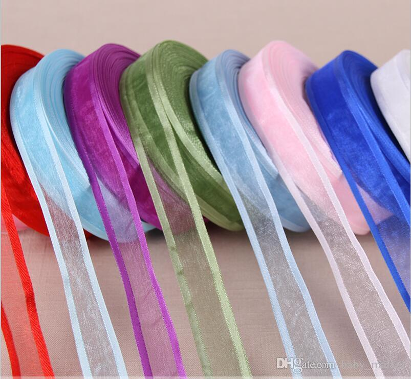 Choose 250 Yards 3 4 20mm Broadside Organza Ribbons Wholesale Gift