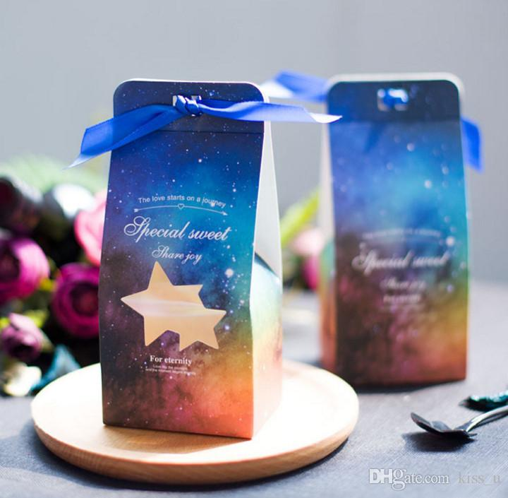 Wedding Favor Boxes And Bags Star Laser Cut Gift Candy Boxes Favor