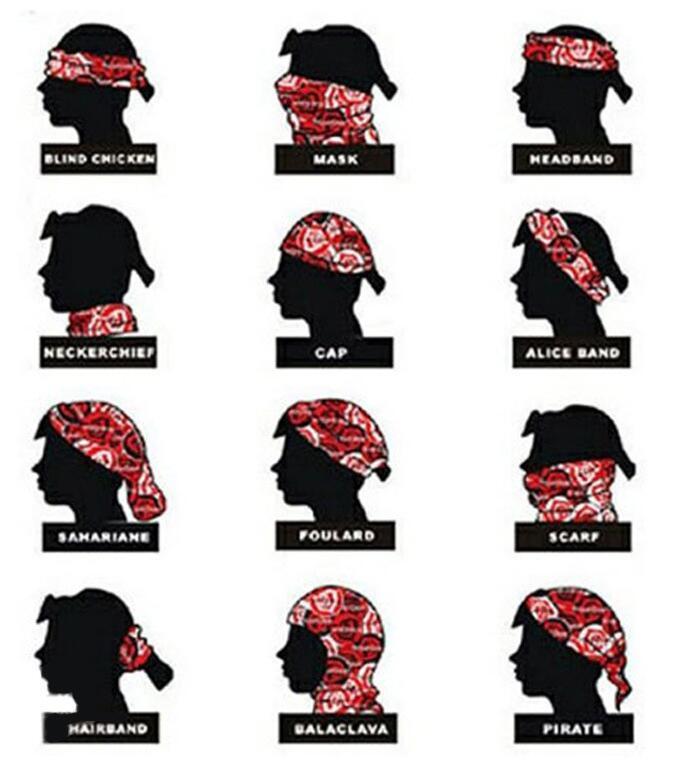 Masque de ski multifonctionnel Bandanas écharpe Outdoor crâne Masques de moto à vélo écharpe magique CS Riding Neck Face Cap multi Styles