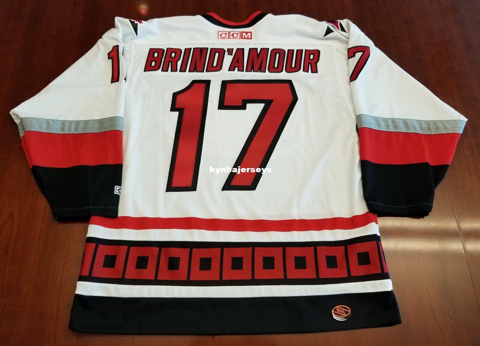 Custom Rob Brind Amour Vintage Carolina Hurricanes CCM Cheap Hockey ... 44905de6f