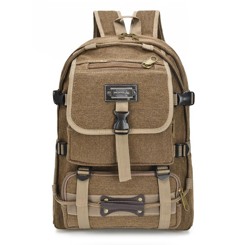 87cd0948c6 Unisex Canvas Backpack Large Capacity Portable Shoulder Travel Sports  Casual Retro Style Bags Junior High School Student Bag Backpack Brands  Rucksack ...