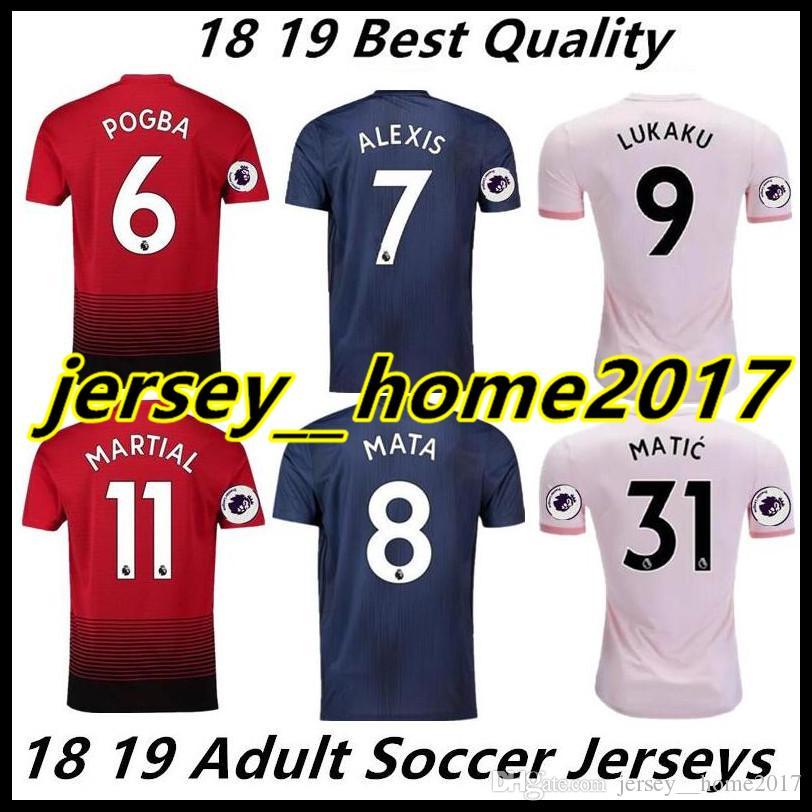 8b769b1e3 2018 2019 Manchester ALEXIS POGBA LUKAKU MKHITARYAN RASHFORD Soccer ...