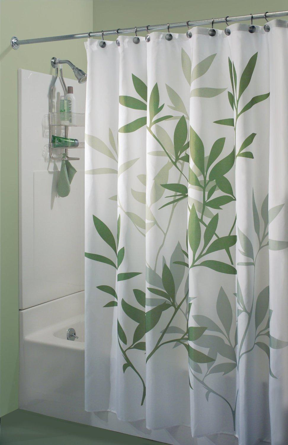 2018 Leaves Gray And Mint Shower Curtain Printing Waterproof Mildewproof Polyester Fabric Bath Bathroom From Goodwork 3545