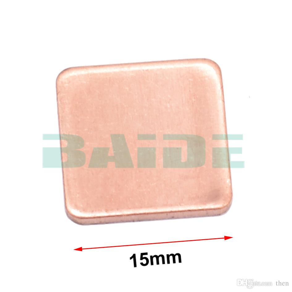 Copper Sheet Shim Piece Heat Sink 15 x 15mm 0.1/0.3/0.4/0.5/0.6/0.8/1.0/1.2/1.5/1.8/2.0mm Thermal Pad For Laptop GPU CPU
