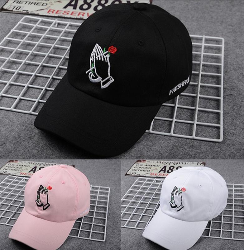 Rose Hand Embroidery Korean Baseball Cap for A Boys Girls Unisex Bone  Snapback Hip Hop Streetwear Kpop Lover Sports Baseball Cap